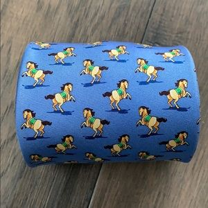 Bird Dog Bay Blue Silk Tie